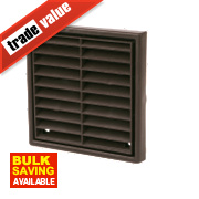 Manrose Louvre Vent Brown 140 x 140mm